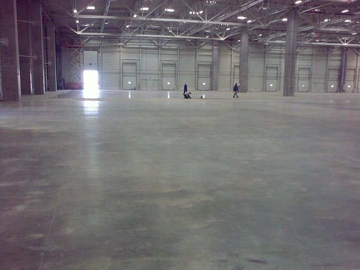 Sol usines en Béton lissé