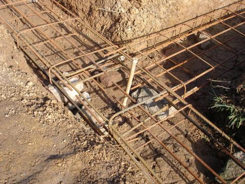 fondations en béton les trous pour clôture