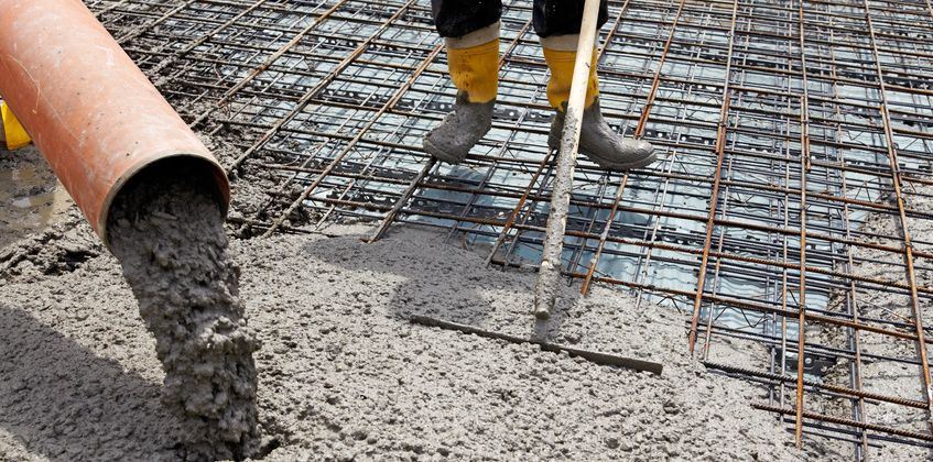 le coulage du beton
