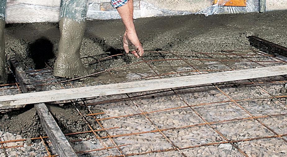 dalle de béton sur terre plein pour la maison