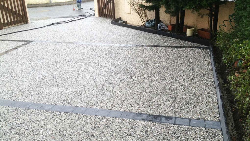 beton desactive pour descente de garage